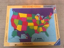 US States and Capitals Puzzle in Bartlett, Illinois
