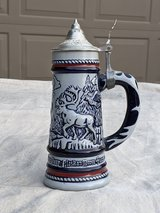 1976 Beer Stein/Mug with pewter lid made in Brazil in Kingwood, Texas