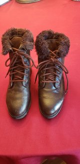 New Leather and Suede Fur Trimmed Boots in St. Charles, Illinois
