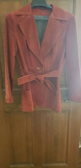 Genuine Suede Rust Colored Jacket in St. Charles, Illinois