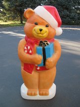 Christmas Bear Blow Mold in Chicago, Illinois