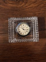 Waterford Crystal Clock Analog with Roman Numerals 3 inch Rectanglar in Kingwood, Texas