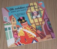 RARE Vintage 1990 Soldier Soldier Won't you Marry Me Soft Cover Book w Die-Cut Pages in Joliet, Illinois