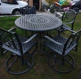 Heavy iron Metall patio set in Ramstein, Germany