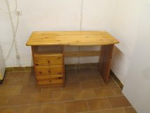 pine wood desk with 3 drawers in Ramstein, Germany