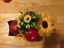 Beautiful apples and sunflowers center piece! in Kingwood, Texas