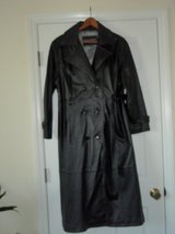 Women's Leather Trench Coat in Camp Lejeune, North Carolina