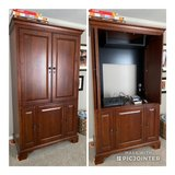 Solid Wood TV Cabinet in Kingwood, Texas