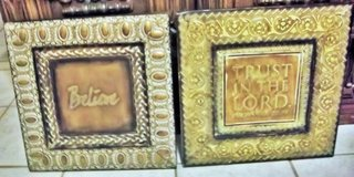 """Two metal pictures 16""""X16""""  """"Believe"""" & """"Trust in the Lord"""" in Alamogordo, New Mexico"""