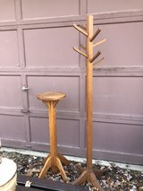 Antique Oak Plant Stand and Clothes Tree Reduced in St. Charles, Illinois