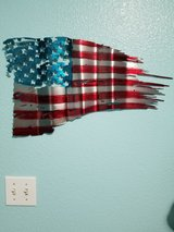 American Flag waving 3 left Metal Art in Tacoma, Washington
