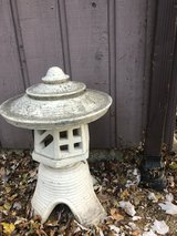 Vintage Pagoda Lawn Statue in Glendale Heights, Illinois