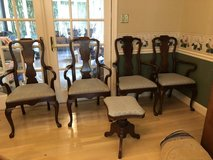 Four antique chairs and piano stool in Fort Meade, Maryland