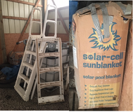 *FREE* Above Ground Pool Ladder & Solar Cover in Joliet, Illinois