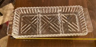 3 Section Glass Dish in Bolingbrook, Illinois