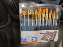 Gold synthetic brush set (new) in Bolingbrook, Illinois