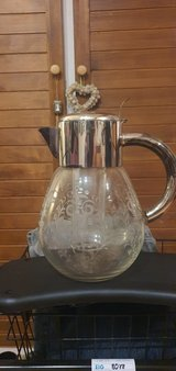 Antik Lead Glass pitcher in Grafenwoehr, GE