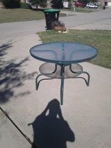 Glass Top Patio Table in Denton, Texas
