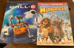 Wall-e/Madagascar DVDs in Naperville, Illinois