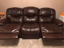 La Z Boy Leather Recliner Sofas (2) in Batavia, Illinois