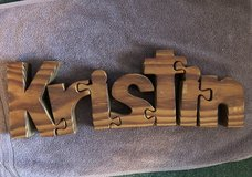 Kristin wooden puzzle in Sugar Grove, Illinois