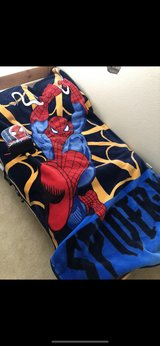 Spider-Man mink blanket and lunch bag in Fort Carson, Colorado