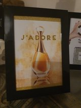 Small Gold Glittery Christian Dior J'adore Perfume Picture for dressing table in Lakenheath, UK