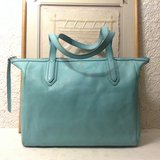 """Fossil"" Sydney Tote carry all in blue genuine leather in Yucca Valley, California"
