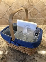 Longaberger Basket with Plastic insert for Cuttlery in Kingwood, Texas