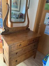 Antique Dresser with mirror in Ramstein, Germany