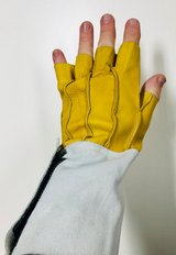 """Large 10"""" Cut Finger Tip Cow Split Leather Work Gloves - New! in Plainfield, Illinois"""