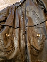 women's leather coat sz large in Plainfield, Illinois