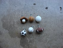 SIX SPORT RELATED DRAWER KNOBS in Batavia, Illinois