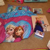Frozen Toddler Bed set plus decor in Beaufort, South Carolina