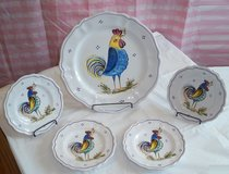 Rooster Plate Set-New *Reduced* in Plainfield, Illinois