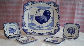 Square Rooster Plate Set-New *Reduced* in Plainfield, Illinois