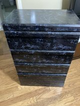 Black marbled design chest of drawers. in Columbus, Georgia