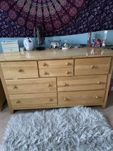 5 Piece Bedroom Set (2 dressers, desk, bed, night stand & lamp) in Plainfield, Illinois
