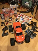 Traxxas T-Maxx Classic 4x4 Nitro RC with many extras in Ramstein, Germany