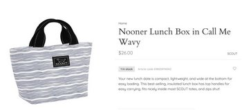 NEW Scout Nooner Lunch Box in Call Me Wavy in Camp Lejeune, North Carolina