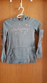 girls grey sweater sz. 7 (justice) in Plainfield, Illinois