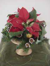 Red Poinsettia Xmas Centerpiece in Ramstein, Germany