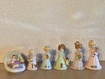 Enesco Growing up Birthday Girls Porcelain Figures Complete Birth-Grad in Fairfield, California