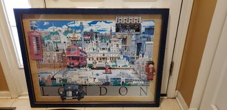 Large framed print of London in Sandwich, Illinois