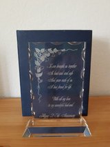 Crystal Glass Plaque 25th Anniversary in Ramstein, Germany