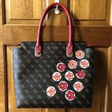 New Guess Brown Liya Handbag with 3D Floral Details in Aurora, Illinois