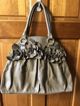 Big Buddha Taupe Purse Handbag with 3D Flowers in St. Charles, Illinois