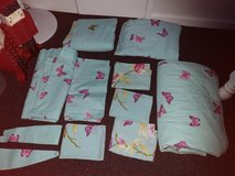2 x king size bedding sets with curtains and bedspread butterflies & flowers in Lakenheath, UK