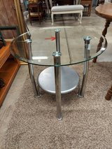 Table-Metal & Glass Side Table in Clarksville, Tennessee