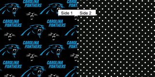 Face Masks 100% Cotton Reversible with Nose Wire - Carolina Panthers w/Black & White Dots in Camp Lejeune, North Carolina